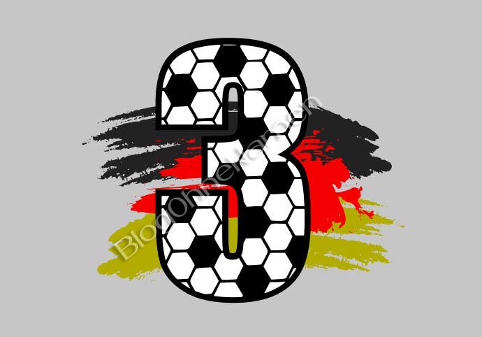 Tutorial: Wie man eine Rückenzahl im Fußballdesign erstellt und plottet. (Plotter Freebie / Free SvG File)
