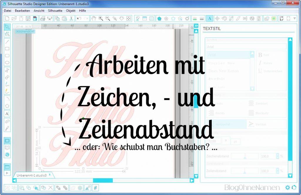 Plotter - Schriftarten - Wie man Buchstaben auseinander schiebt (10) Einzelne Buchstaben verschieben