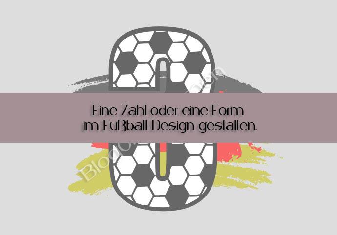 Wortmosaik mal anders - Eine Zahl oder eine Form im Fußball-Design gestalten.